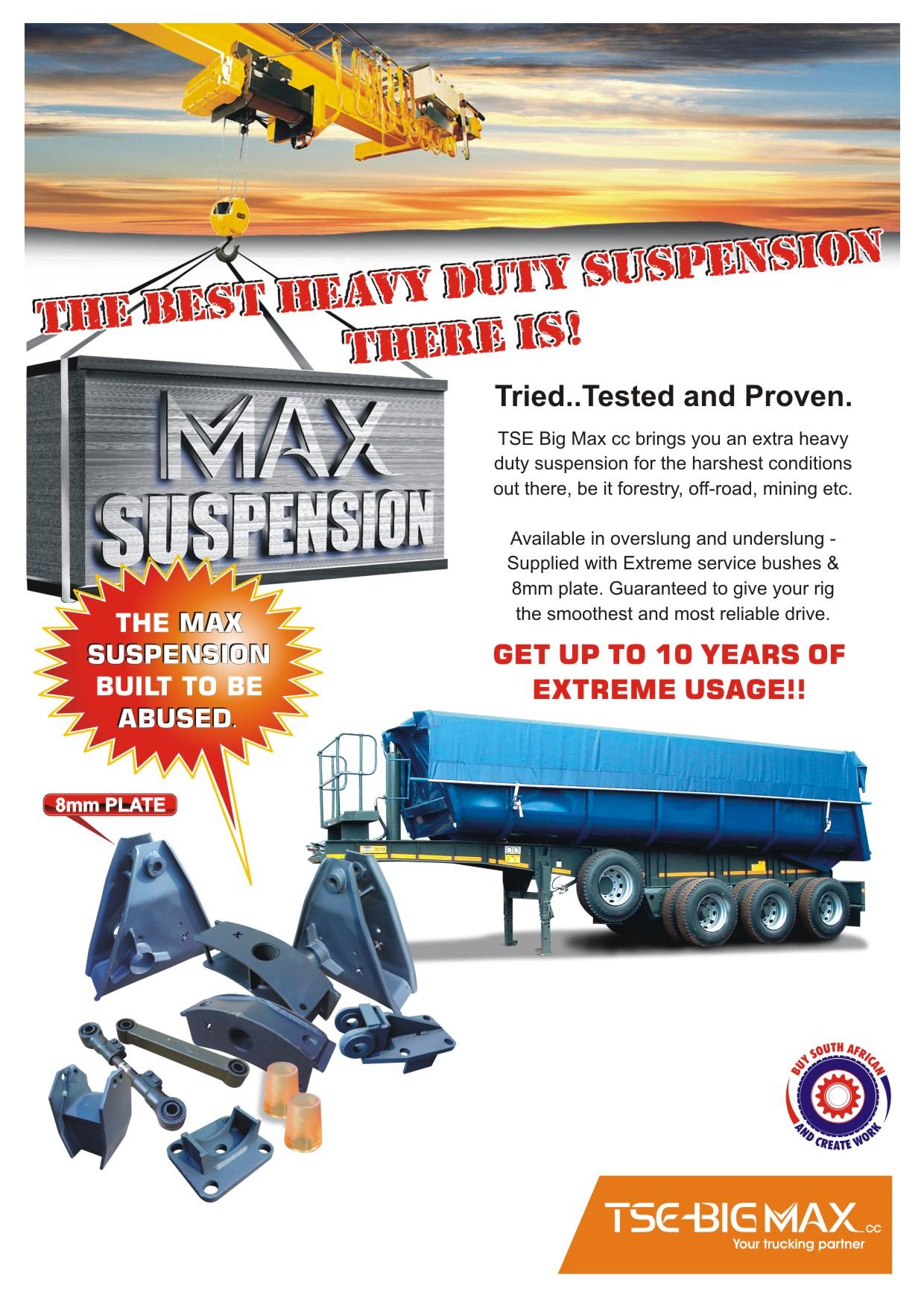 Suspension tandern bogie supreme truck trailer south for Suspension 3 branches